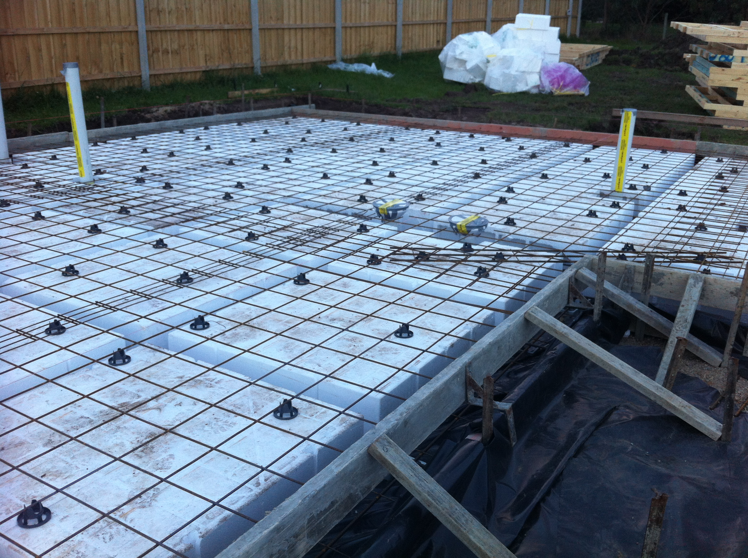 Boxing And Waffle Pods In Place For Slab