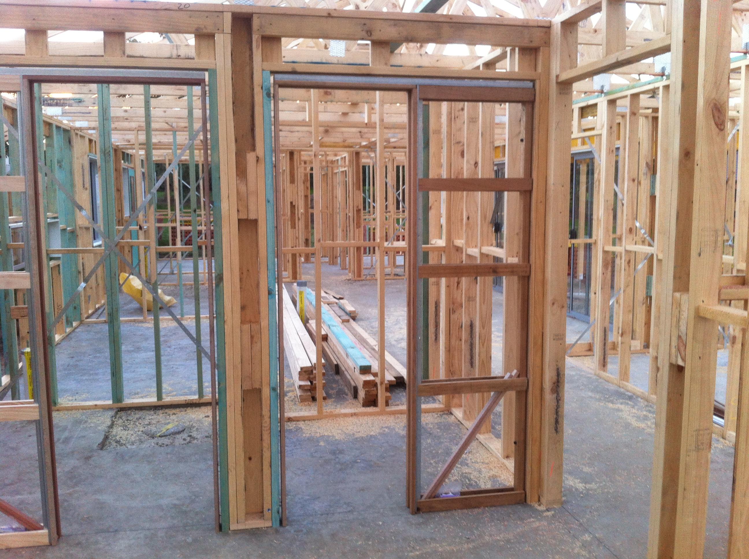 External Doors And Windows In Place Scottshousebuild